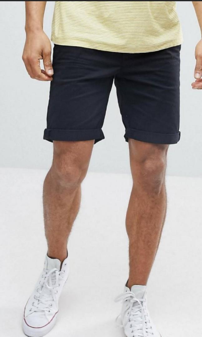 ESPRIT Herren Chino Shorts grau W33 NEU