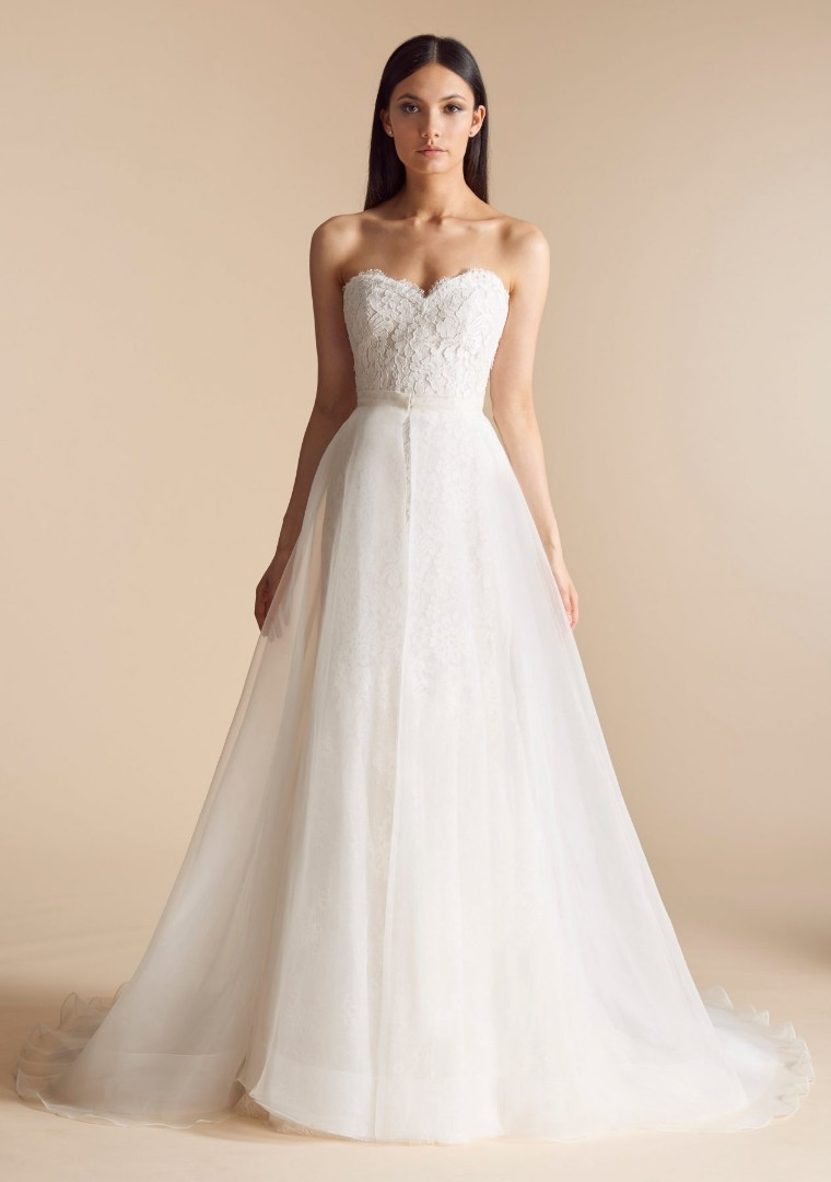 2e870ee0a3b Elegant white lace tube dress   evening gown   Wedding Gown