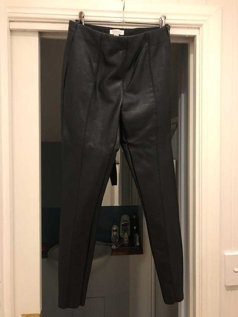 Faux leather PU pants