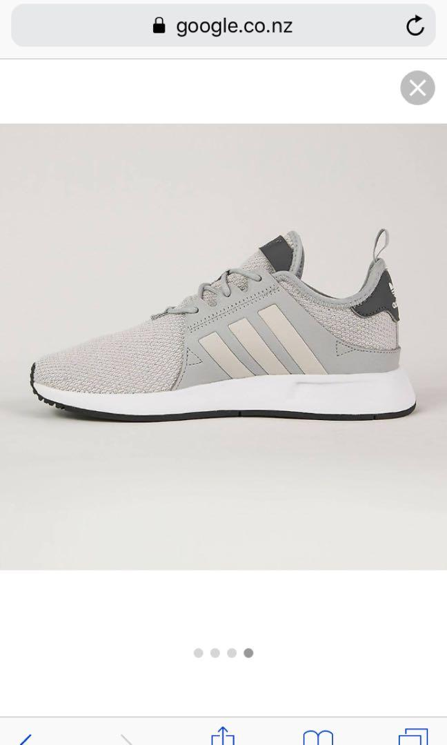 Grey and white adidas