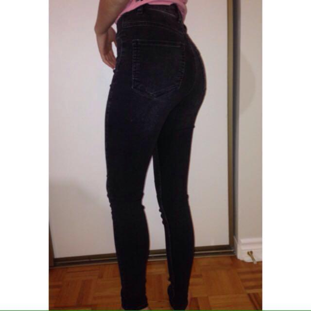 H&M black denim jeans