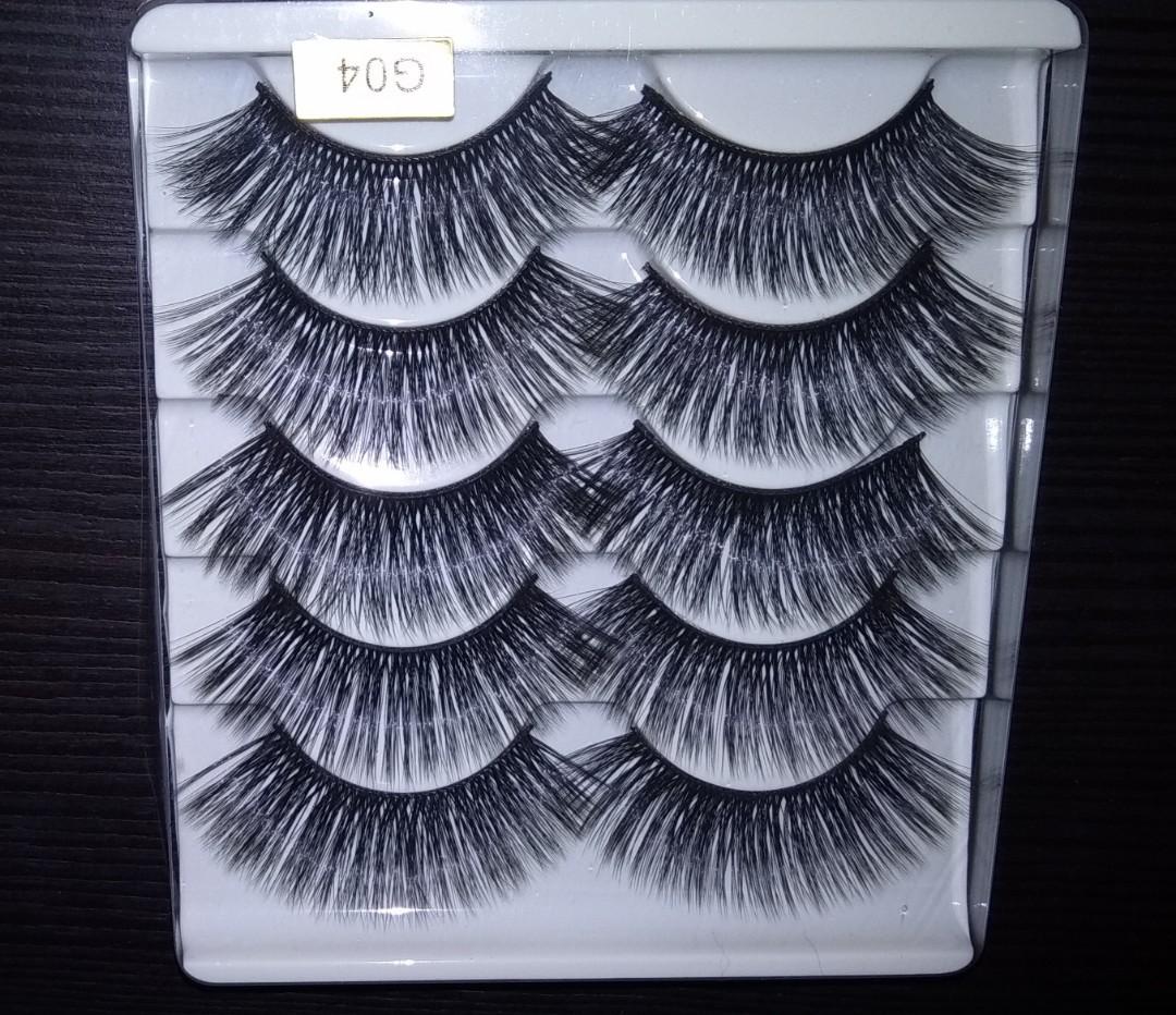 7f8ef90a405 Hot Skonhed! 5 pairs 3D Mink Hair False Eyelashes / Thick Wispy ...