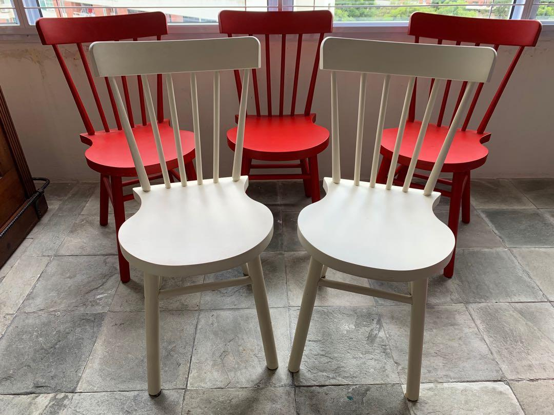 Strange Ikea Norraryd Dining Chair Red And White Set Of 5 Furniture Pdpeps Interior Chair Design Pdpepsorg