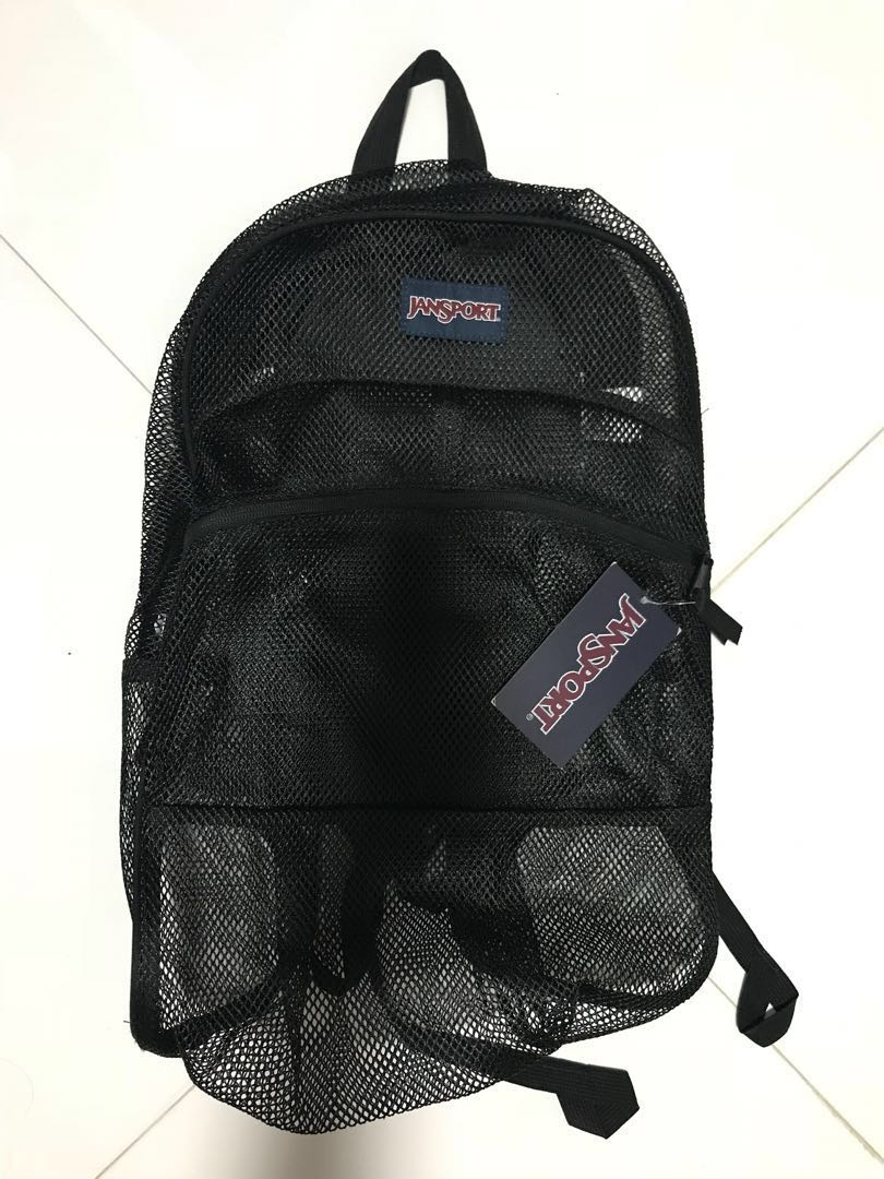 ce41fba6b24 Jansport mesh back pack backpack 網袋 網背包 背囊