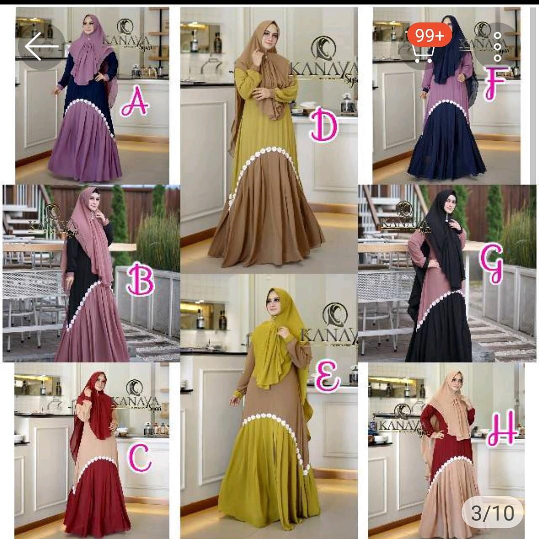 Kanaya Syari Fesyen Wanita Muslim Fashion Gaun Di Carousell