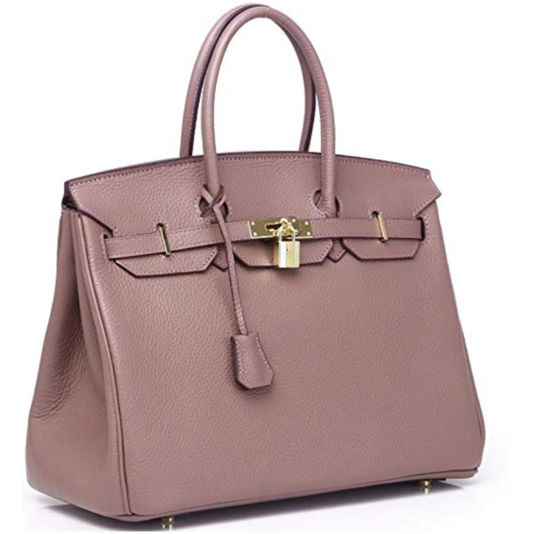 Kueh Womens Padlock Designer Handbags Genuine Leather bags With Gold Hardware