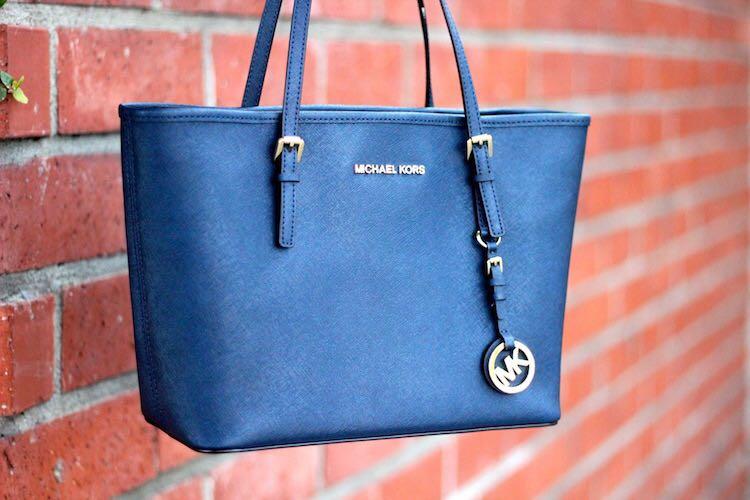 fe0ccb424cb0 Michael Kors Jetset Small Tote Bag (Cobalt Blue)