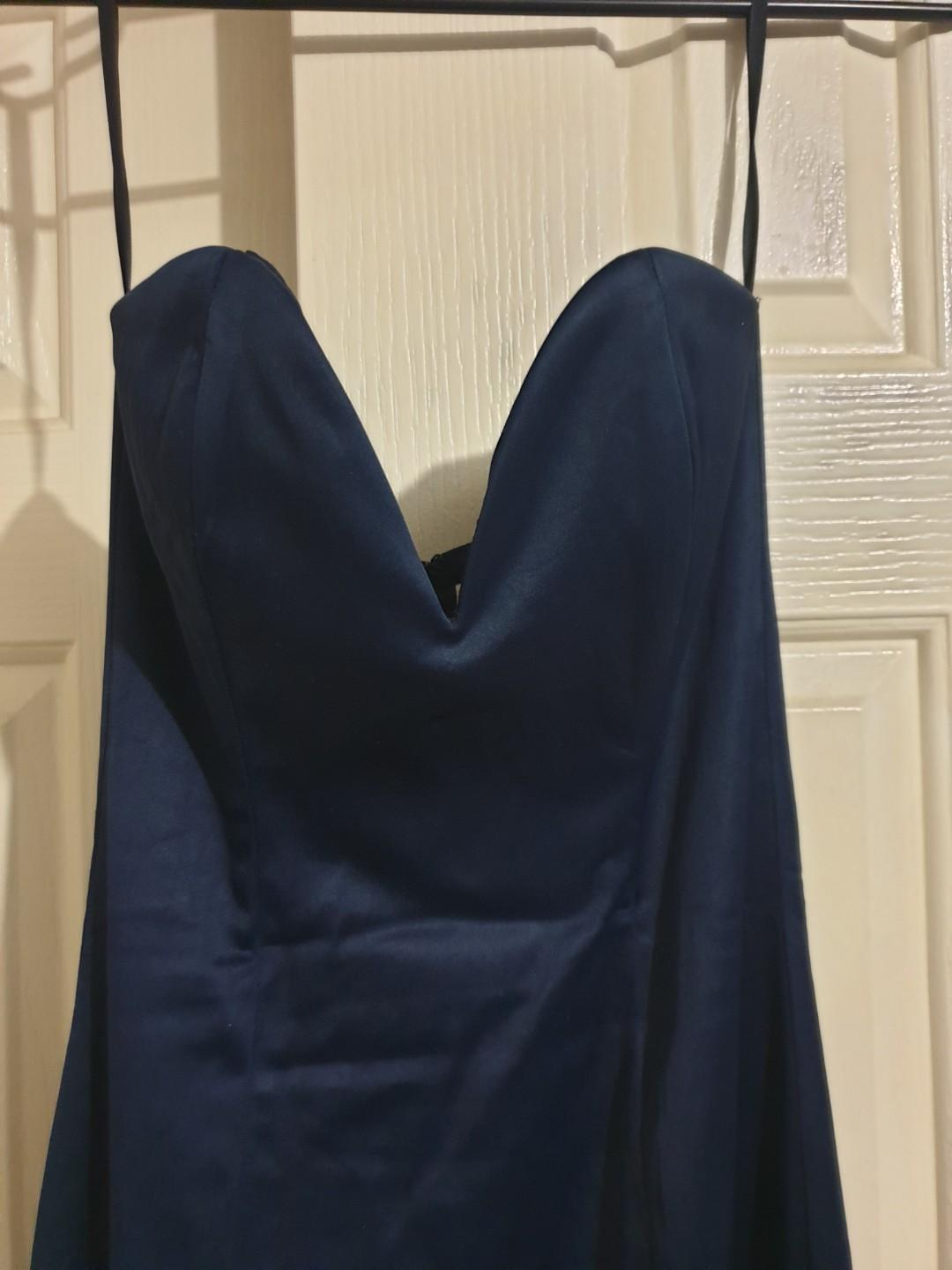 Navy Blue Mermaid Fit Strapless Formal Dress. Price negotiable, just message me