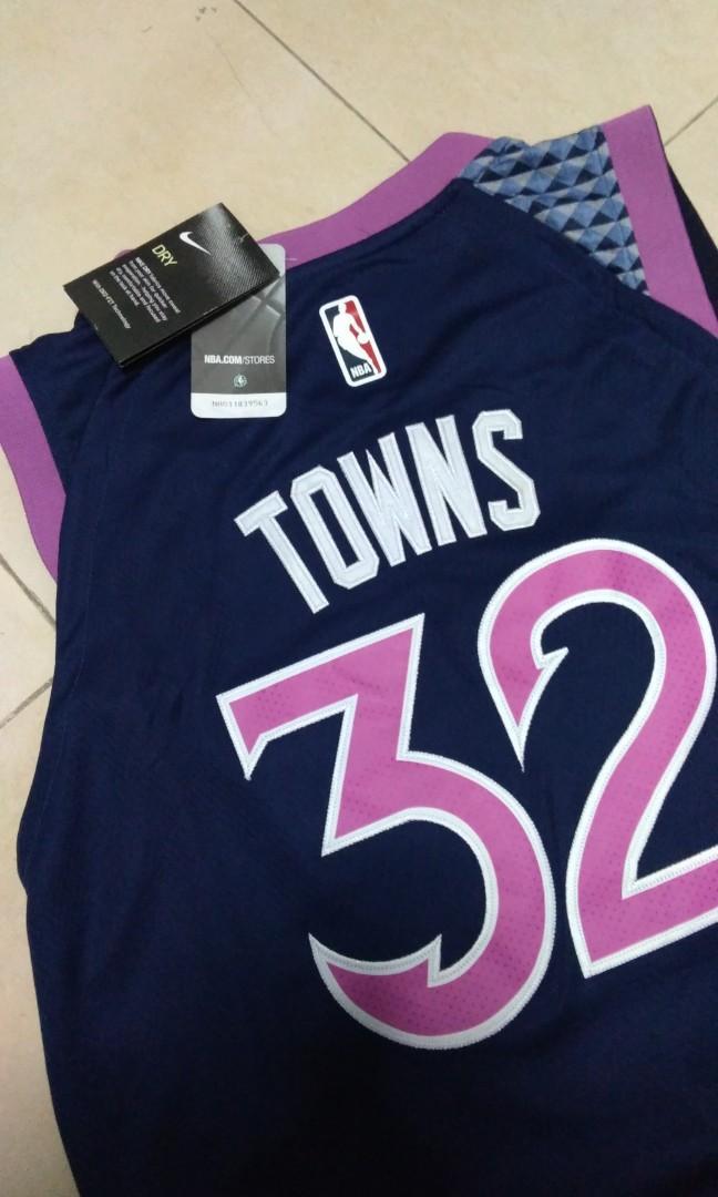 buy popular d026e 8b8bb NBA Basketball Jersey 2019 - Towns - Minnesota Timberwolves ...