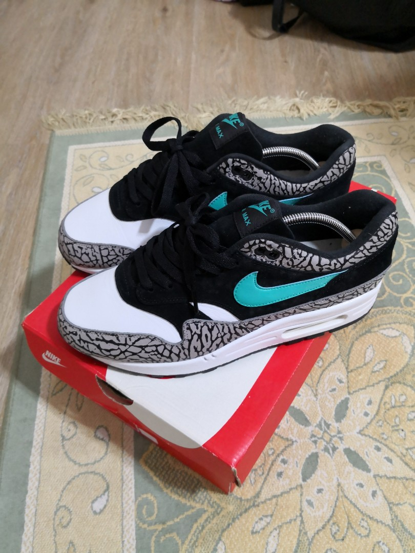 620200f337 Nike Air Max 1 x Atmos Jade Elephant, Men's Fashion, Footwear ...
