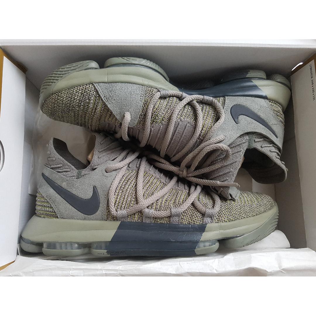 Nike KD 10 Dark Stucco (Veteran s Day) US10.5 9d8ca975f