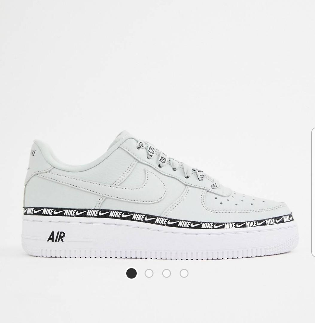 reputable site 5f930 9fea4 NIKE Silver Air Force 1 Swoosh Tape, Women's Fashion, Shoes ...