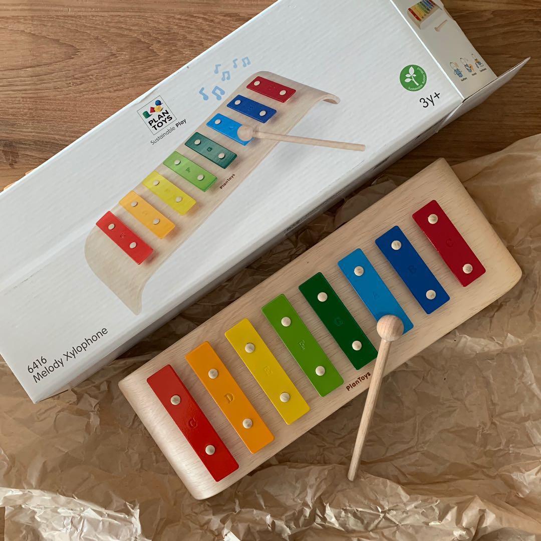 plan toys melody xylophone (bnib), babies & kids, toys