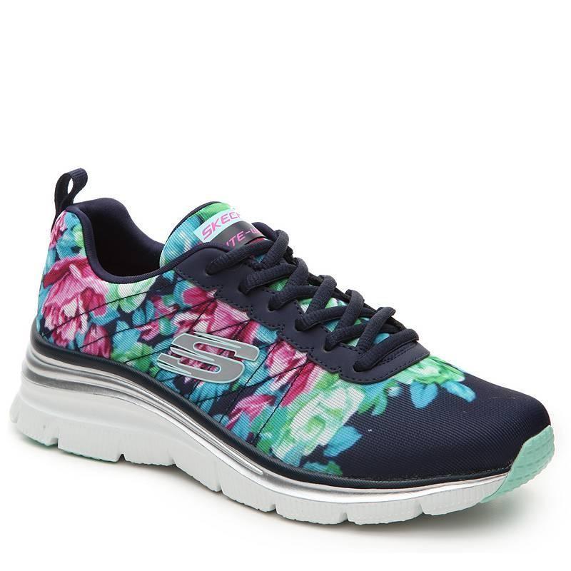 2bdd44940bdc PO   US Shipment  Skechers Fashion Fit Floral Printed Women s shoes ...