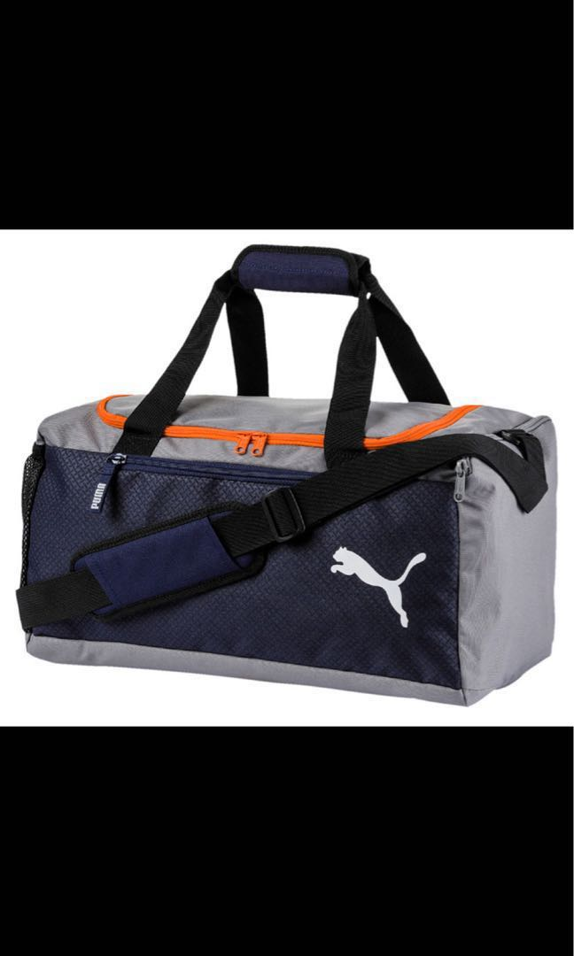 387e977af5 Puma Duffel Bag (Fundamentals Sports Bag M Peacoat - Firecracker ...