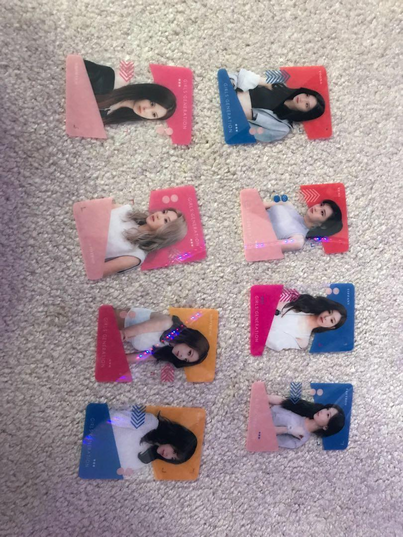 Snsd unofficial transparent photo cards. Set of 22