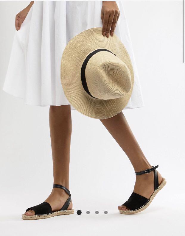 South Beach black ankle strap
