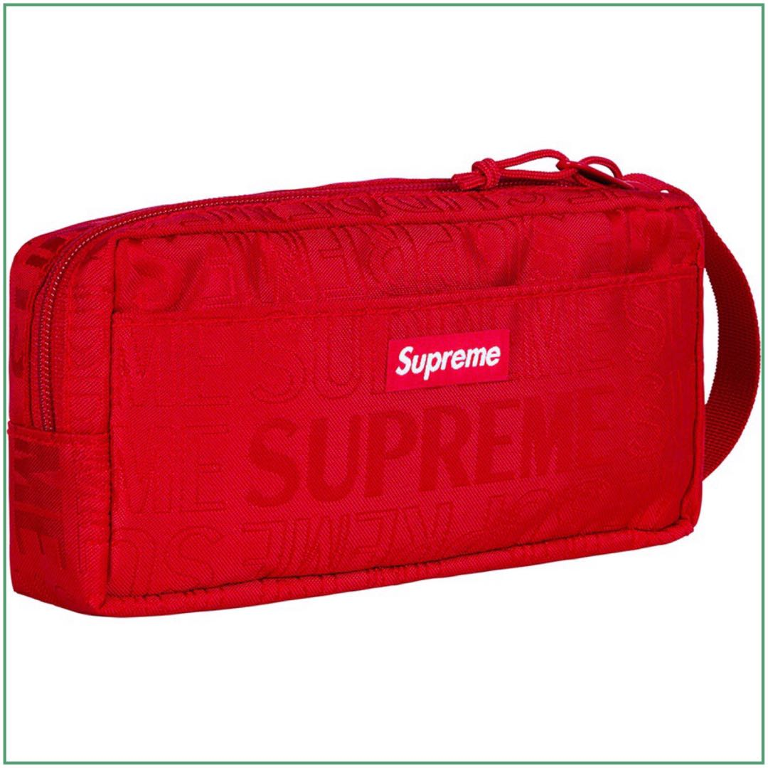 d96bec02673 Supreme Red Organizer Pouch, Men's Fashion, Bags & Wallets, Others ...