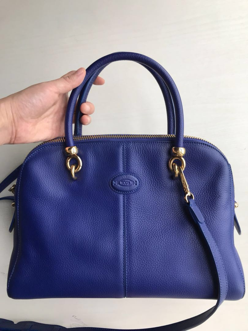 9af743b932624 Tod's bowler bag, Luxury, Bags & Wallets, Handbags on Carousell