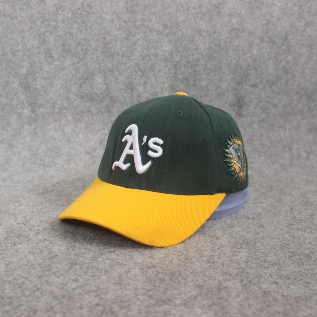 Topi MLB Oaksland Dark Green Yellow Second Original Murah af93e475fa