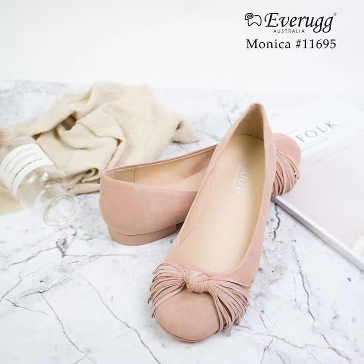 UGG Monica Sewing Ballet Flats with Cute Tassel, Genuine Leather Upper Sheepskin Inner