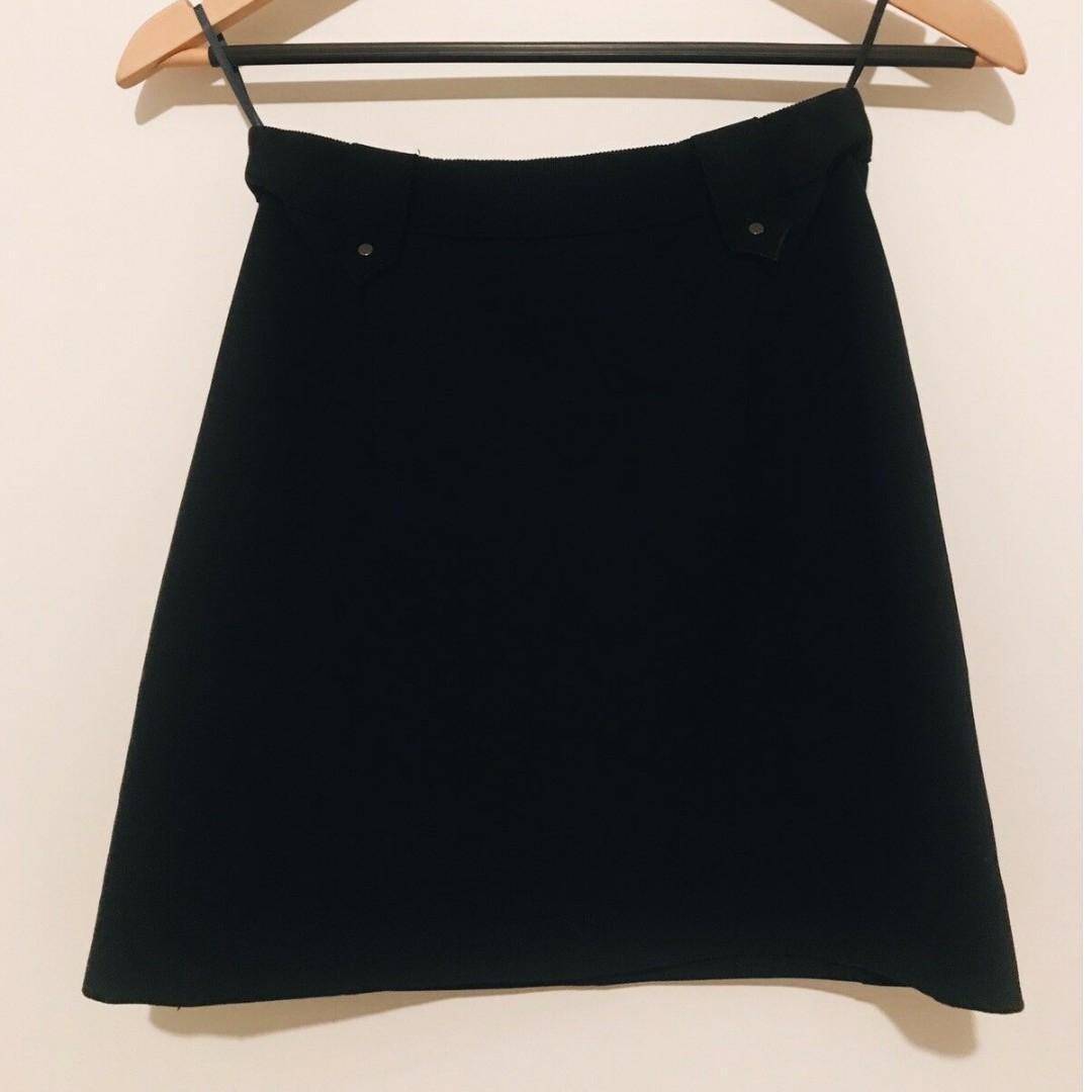 Witchery mini navy skirt 6