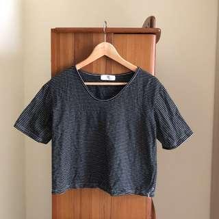🚚 Muura 條紋寬鬆棉質上衣