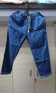 🚚 單寧寬褲