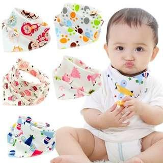 3pcs Double Layer Cotton Baby Bibs