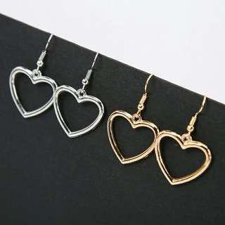 🚚 [po] ulzzang heart shaped earrings