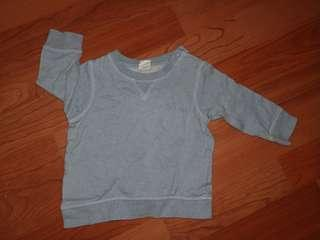 🚚 H&M 冬季上衣 藍色 7-9m 74cm