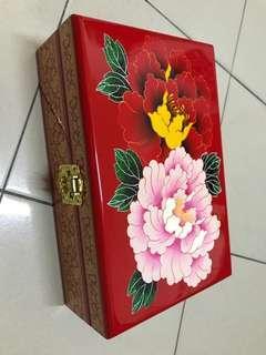 Ivory Wood Jewelry Box