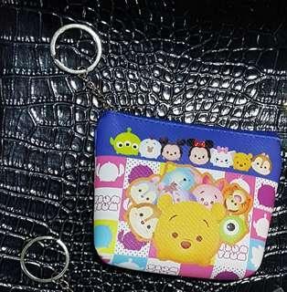 🚚 TSUM TSUM寬底零錢包 迪士尼小物收納包 disney鑰匙圈錢包