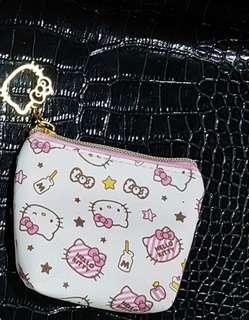 🚚 Kitty寬底零錢包 凱蒂貓小物收納包 Hello Kitty錢包 三麗鷗小錢包