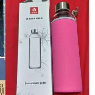 耐熱玻璃運動瓶(含保護套)