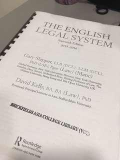 English Legal System Routledge 2015-2016