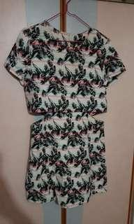 🚚 Topshop Tropical Print Dress with Cut Out and Zipback