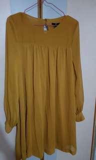 🚚 H&M Mustard Tunic Dress