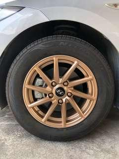Rims and calipers spraying