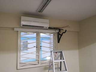 Aircon relocation work