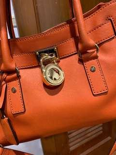 Michael kors hamilton medium orange Ghw