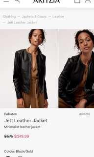 Ariztia leather jacket size s