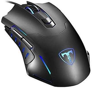 A209 - Gaming Mouse Wired, Pictek 6 Buttons Ergonomic Optical USB Mouse PC Computer Gaming Mice [3200 DPI Adjustable] [Auto Breathing Light] for Windows 7 / 8 / 10 / XP Vista Mac Macbook Linux, Black