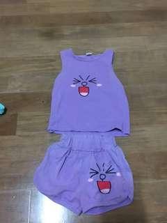 🚚 紫色兔兔套裝