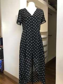 B/W V-Neck Dress