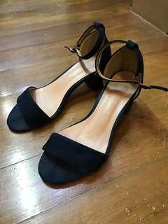 Blue Low Heeled Sandals