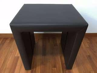Modern leather bed side table