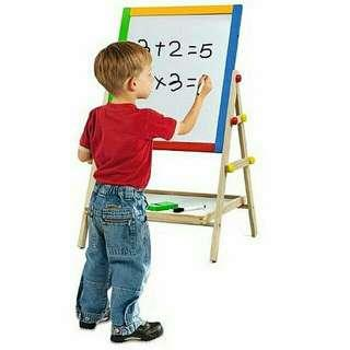 TENSO 2 in 1 Easel Wooden White and Black Board Series 75 for Kid