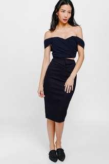 🚚 Love Bonito Qal Denim Origami Midi Skirt