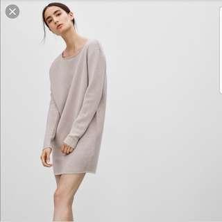 Aritzia Wilfred Campanule Sweater Dress